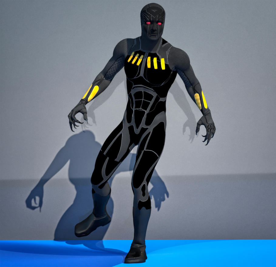 Black panther 2nd skin suit for m4 by hiram67