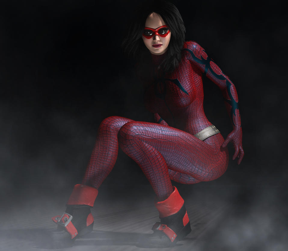 Spider Woman new costume 2nd skin textures fo V4 by hiram67