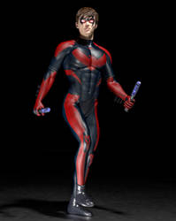 Nightwing 2nd skin textures for M4 by hiram67