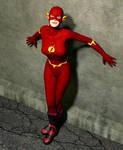 Flash girl textures for Daz3d V4 Bodysuit