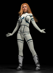 Sue Storm FF 2nd skin textures for Daz3d V4