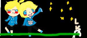 Len-kun With Armin by LilyKatArtist