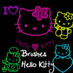 Brushes Hello Kitty by adictionobsessive