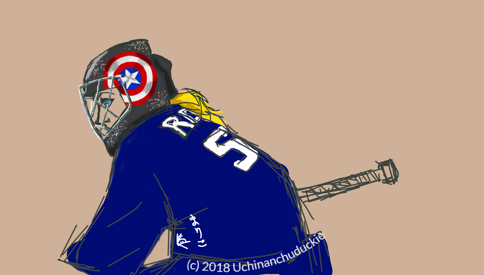 Goalie Stephanie Rogers by UchinanchuDuckie