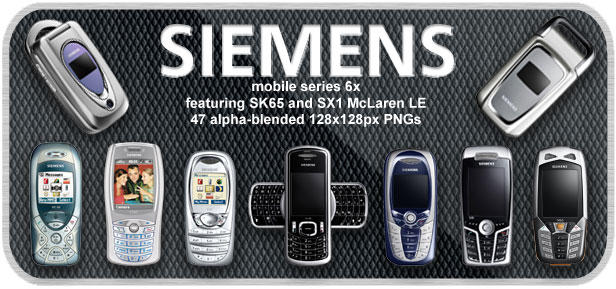 Siemens mobile phones 2004