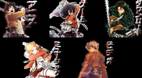 Anime Folder Icon [ Shingeki no Kyojin Pack ] by Aven-23