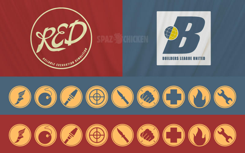 Tf2 wallpaper pack 01 flags by spazchicken on deviantart - Tf2 logo wallpaper ...