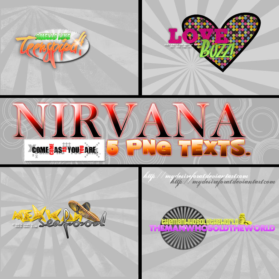 Nirvana PNG's Text by MyDesireForAT