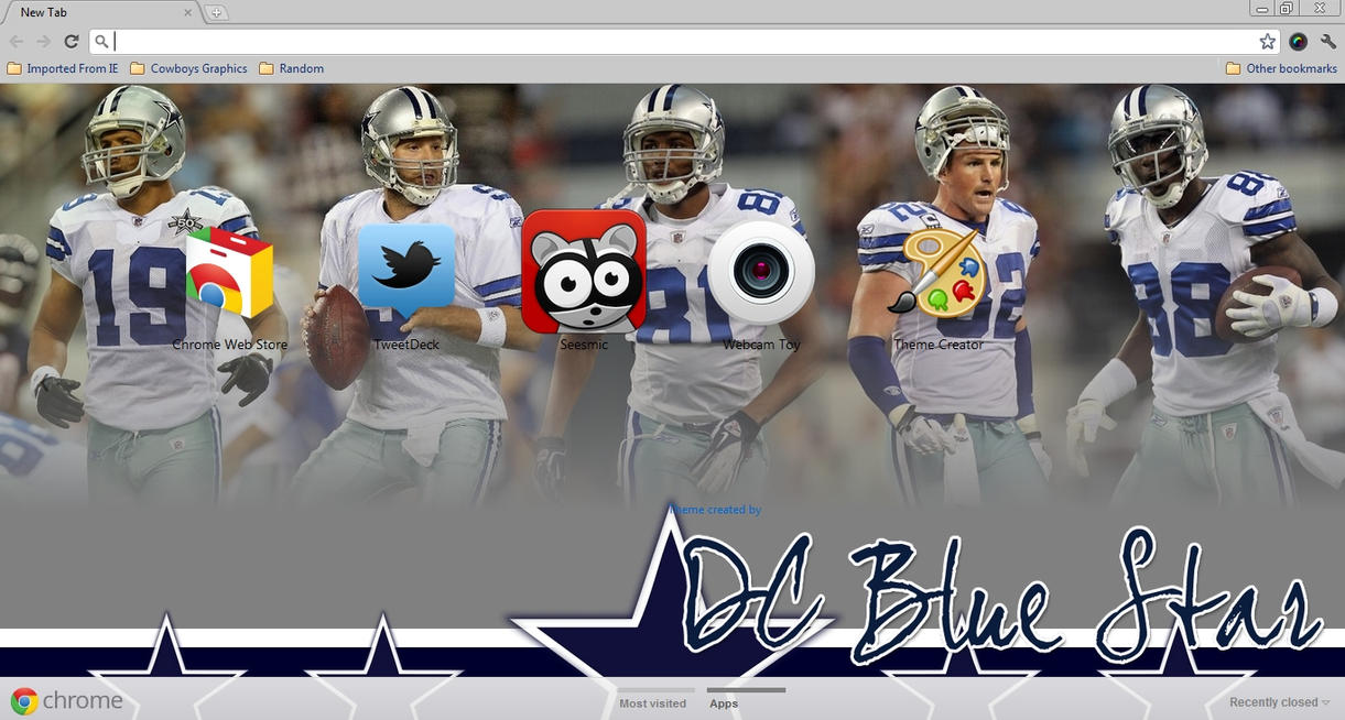 Dallas Cowboys Chrome Theme by DCBlueStar