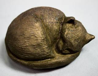 Bronze Cat by Mustashio120