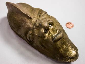 Bronze African Mask by Mustashio120