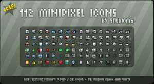 112 MiniPixel Icons ByStudioM6
