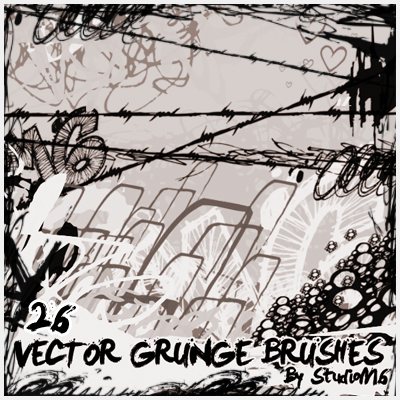 26 Vector Grunge Brushes
