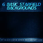 6 basic starfield backgrounds PACK