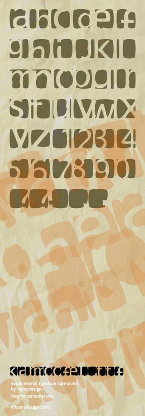 karmoofel experimental font