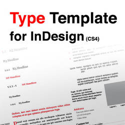 Type Template for InDesign