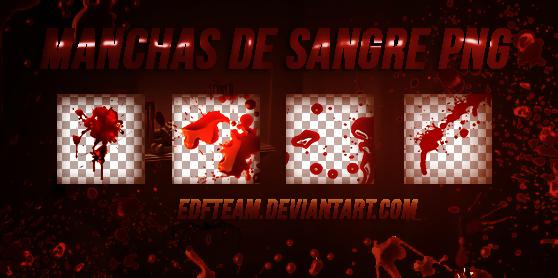 Pack manchas de sangre png. by EDFTeam