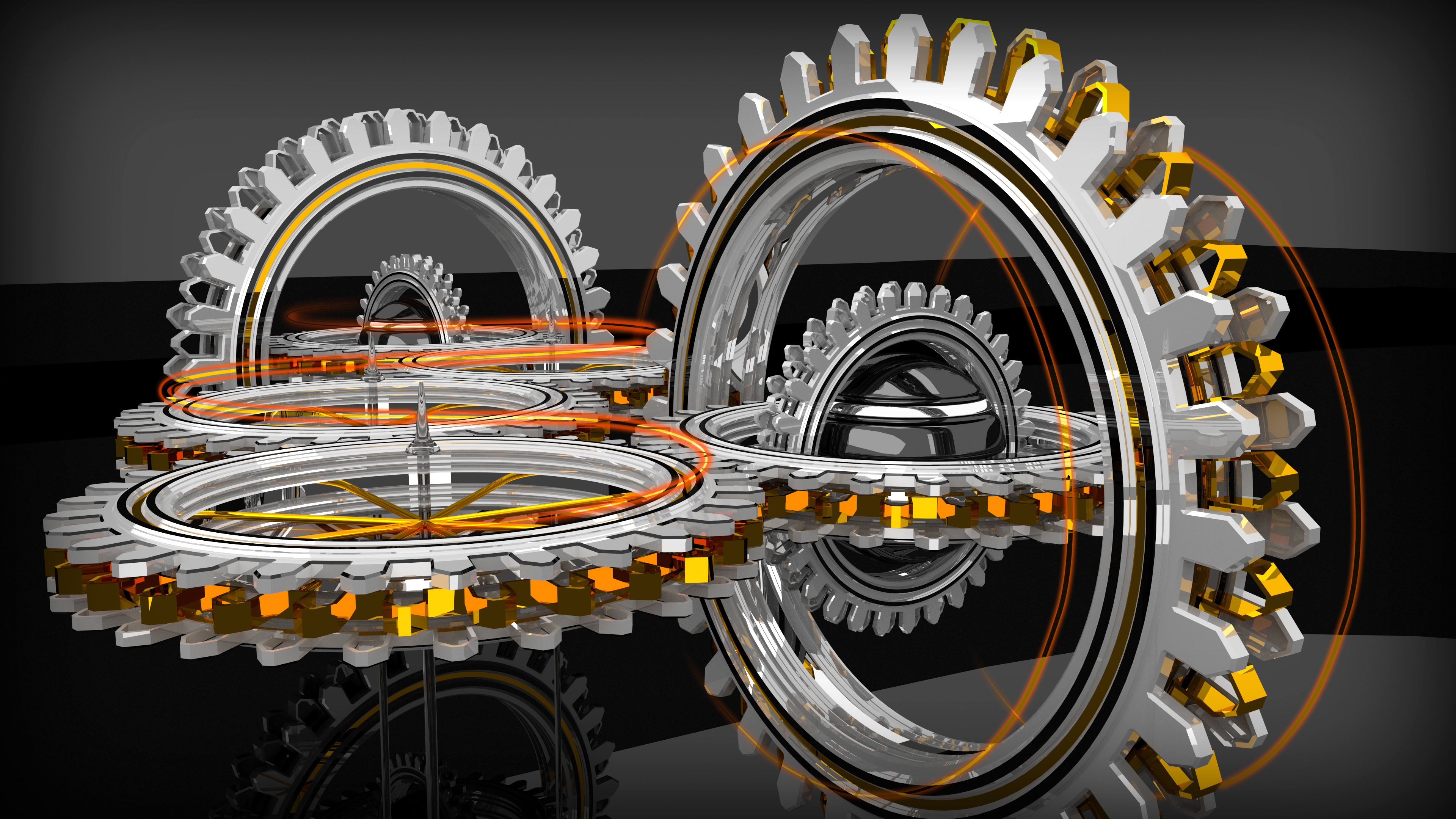 Concentric Gears (4k and Full HD) by Dario999
