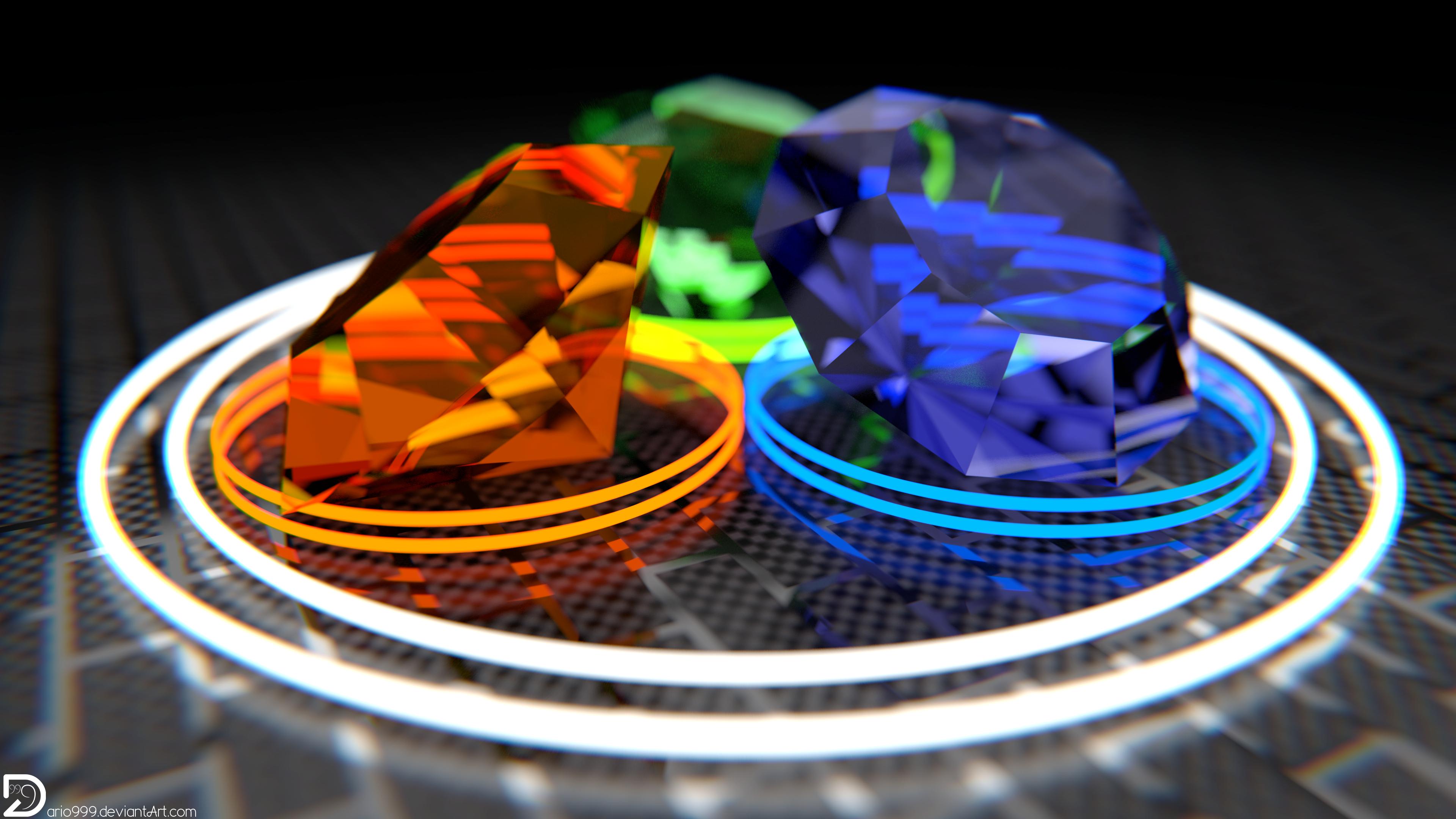 Minimalistic Diamonds - V2 (4k and Full HD) by Dario999