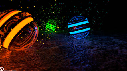 Spheres of Particles (4k and Full HD)