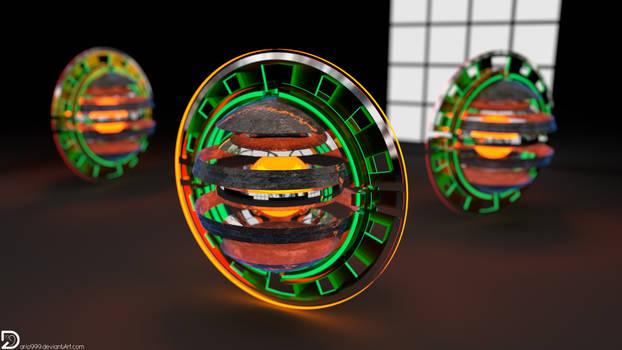 Rusted Titanium Disks (4k)