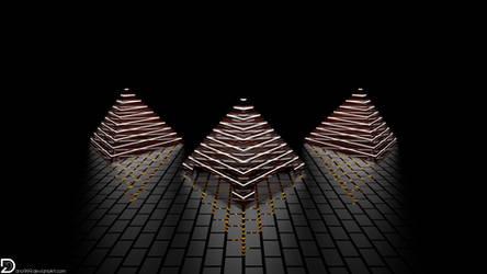 Glass Tetrahedrons of Illumination (4k)