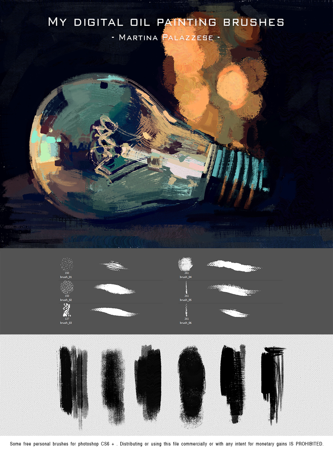 My digital oil painting brushes