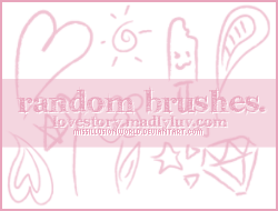 Random Cute Brushes by missillusionworld