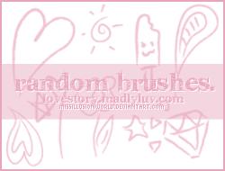 Random Cute Brushes by missillusionworld