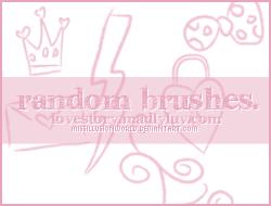 Random Cute Brushes 002 by missillusionworld
