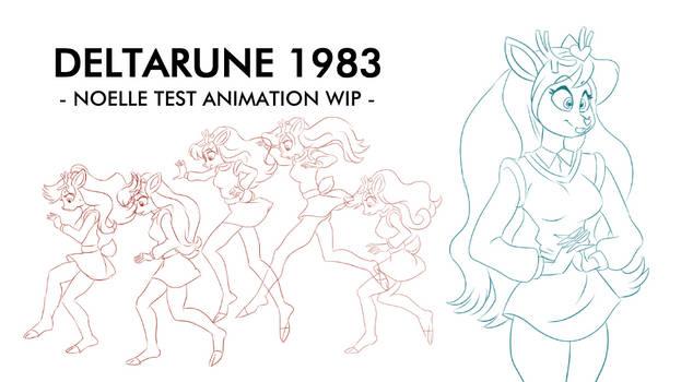 Deltarune 1983 Noelle Test Animation WIP.