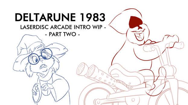 Deltarune 1983 Laserdisc Arcade Intro WIP 2.