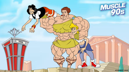 Cartoon Muscle Girl