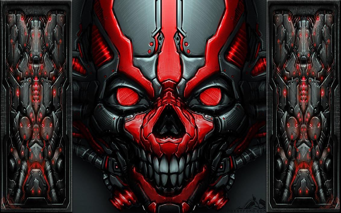 Mech Skull wallpak by stramp1a