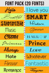 +My Favourite Fonts Pack