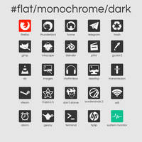 #flat/monochrome/dark by crunchpaste