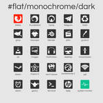 #flat/monochrome/dark