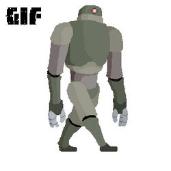 Robot Walk Animation by ChromeFlames