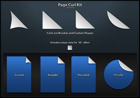 Page Curls Kit by mlevesque95