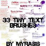 33 Tiny Text Brushes