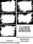 Large Grunge Borders