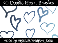 Heart Brushes by draconis393