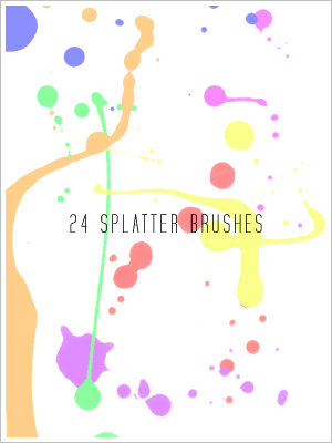 Splatter brushes by draconis393