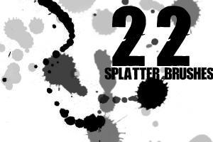 22 Splatter Brushes by draconis393