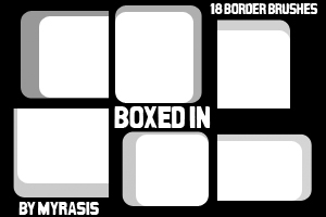 Boxed In - 18 Border Brushes by draconis393