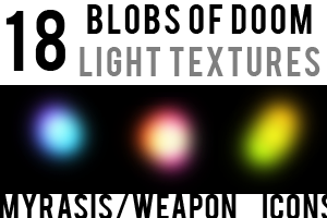 Blobs of Doom Light Textures by draconis393
