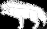 048 - FREE Base!  Striped hyena - .PSD!