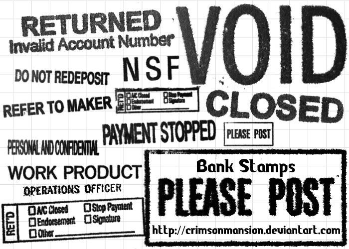 Bank Stamps by crimsonmansion