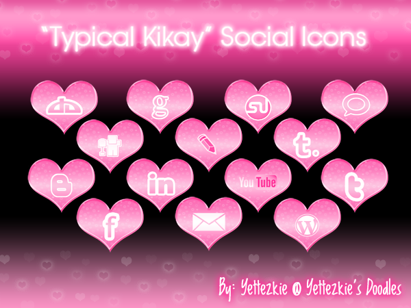 """Typical Kikay"" Social Icons by yettezkiedoodle"