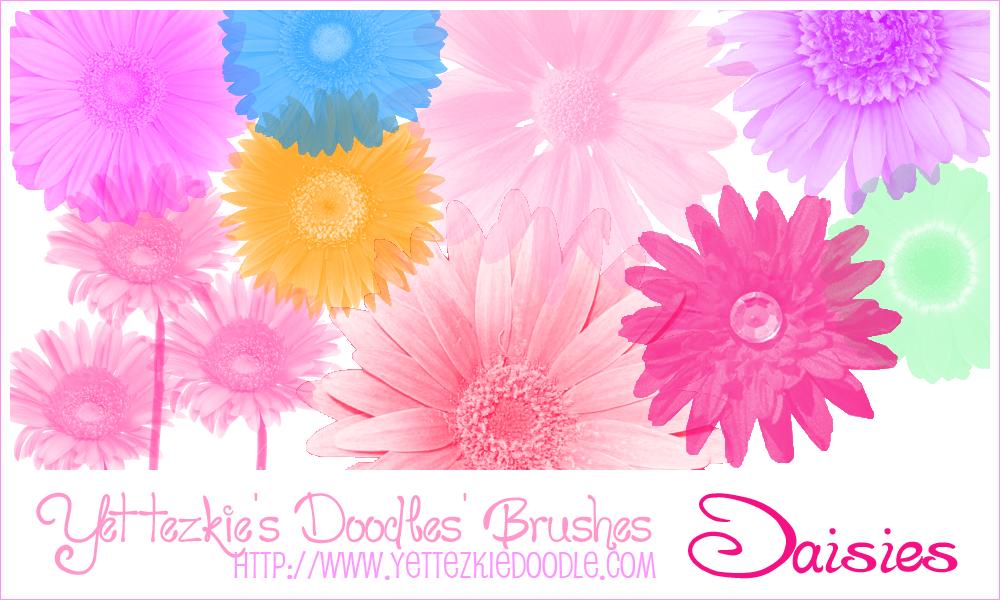 Daisies Brush Set by yettezkiedoodle
